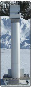 El poste de energía eficiente
