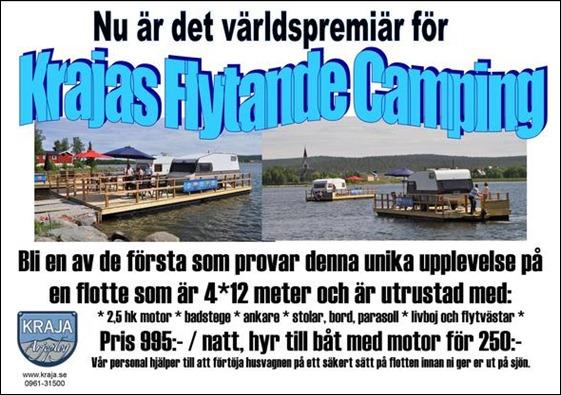 FLYTTANDE CAMPING