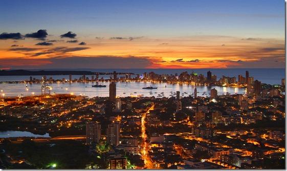 Atardecer en Cartagena_de_Indias_desde_La_Popa_