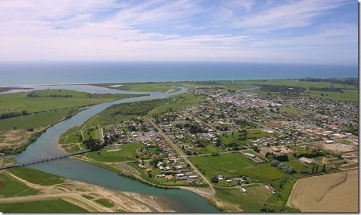 Waioweka River and Opotiki Township