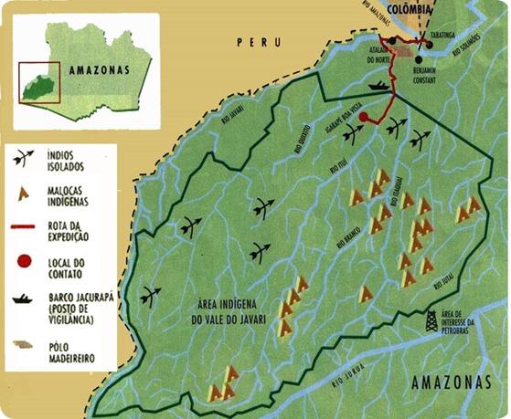 mapa DO JAVARI-
