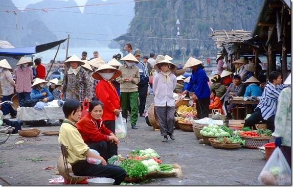 Halong Bay - Halong City - market