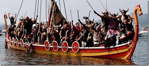 catoira romería vikinga