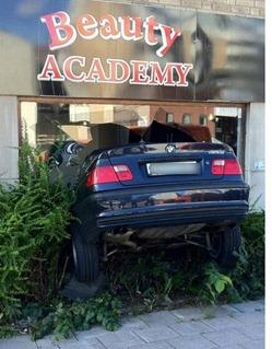 coche en la peluquería