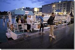 evacuados del autobús del agua King