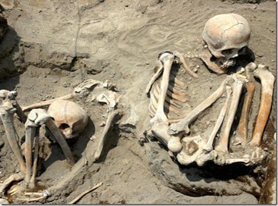 restos niños sacrificados