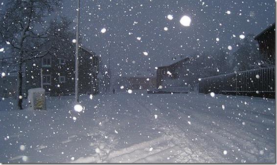 Snö i Kiruna den 7 okt 2011