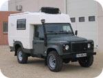A Land Rover Defender 110