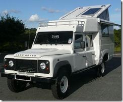 A Land Rover Defender 130 -