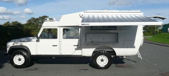 A Land Rover Defender 130--