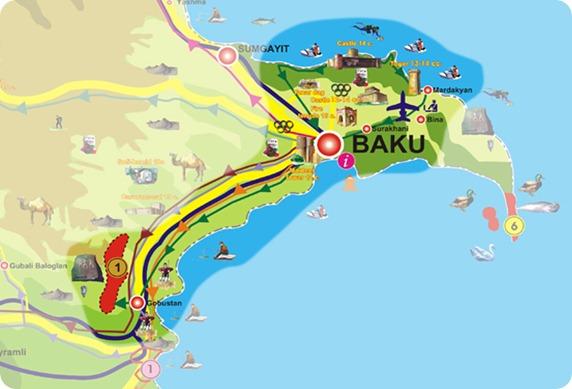baku map
