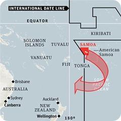 Samoas current position