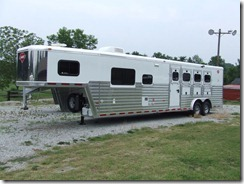 Hart 4 Horse Slant Load Trailer, 12' Short Wall, Full Living Quarters