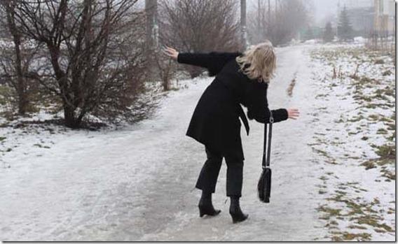 woman slipped