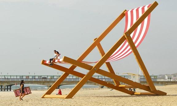 Bournemouth giant-deckchair