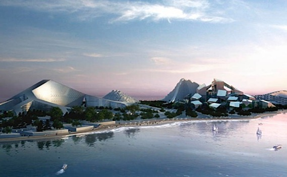 Azerbaijan  Zira Island Caspian Sea