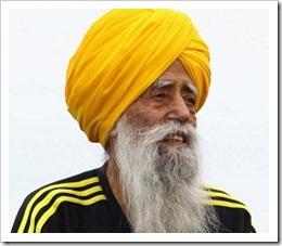 brittiske maratonlöparen Fauja Singh