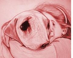 flickan och hennes hund