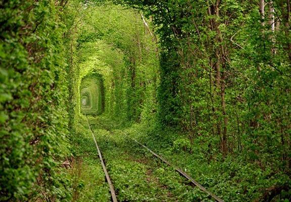 El túnel del Amor en Kleven
