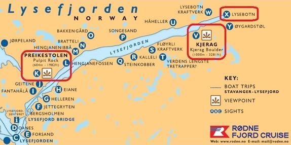 lysefjorden map-