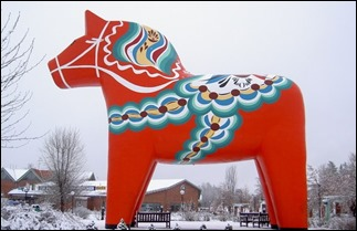 The world's largest Dalahorse in Avesta