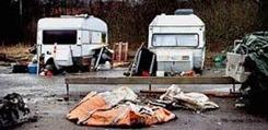 Hemlösa   husvagnar   Hökarängen