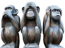 los 3 monos sabios - no veo, no oigo, no hablo -