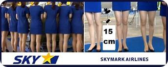 skymar airlines - minifaldas 15 cm arriba de las rodillas