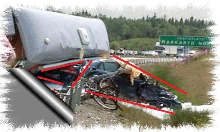 Husbilsolycka på E4-an