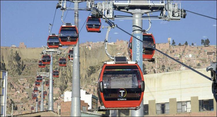 Línea roja teleférico La Paz - El Alto
