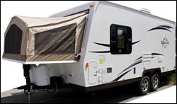 2014_Flagstaff_Shamrock_19_Hybrid_travel_trailer.--