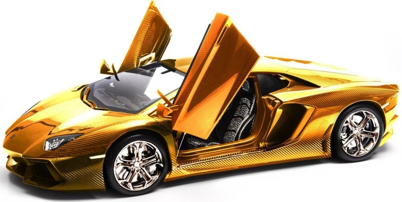 gold-lamborghini-aventador-