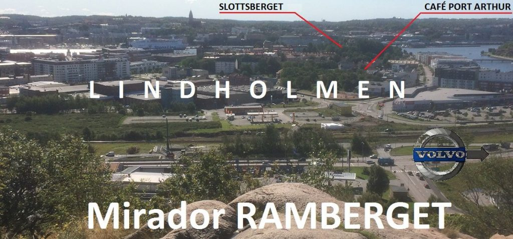 Lindholmen visto desde el mirador Ramberget