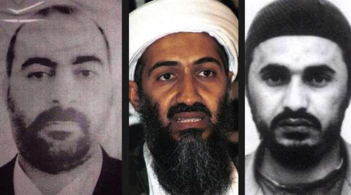Abu Bakr al-Baghdadi, Usama bin Ladin , Abu Musab al-Zarqawi. (Foto AP)