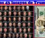 Los 43 lacayos del 'psicópata narcisista' Donald Trump