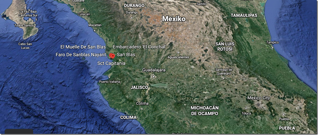 muelle de san blas mapa